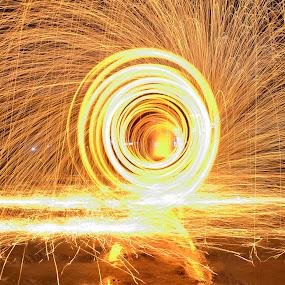 pusaran api by Arifandi Krembong - Abstract Fire & Fireworks ( jember, d7000, steel, wool, fire, fireworks, new year, dipawali, diwali, 2014 )