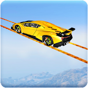 Longest Tightrope Mega Ramp Car Racing Stunts Game
