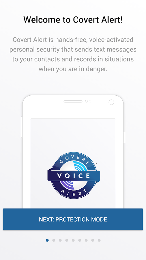 Covert Alert - Voice activated Safety Alert app- screenshot