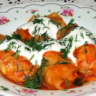 Cabbage Rolls With Pumpkin And Rice