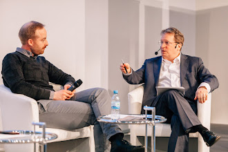Photo: Rubin Ritter, co-CEO, Zalando SE; Paul Hofheinz, director, European Digital Forum