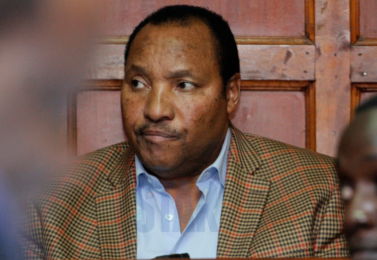 Impeached Governor Ferdinand Waititu at a court hearing in January 2020.