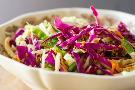 Asian Slaw // The Lazy Man's Lunch