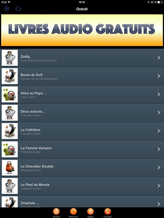 Livres audio par Audiolude - Android Apps on Google Play