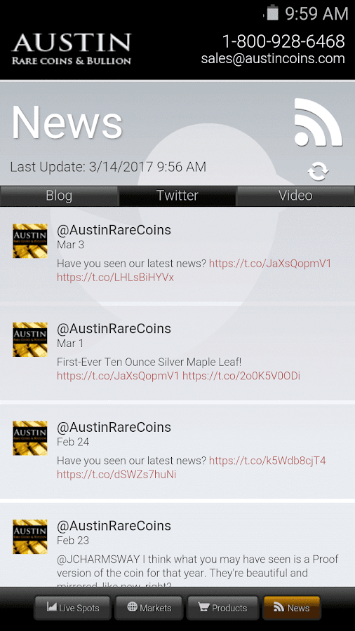 Austin Coins Market Tracker- screenshot