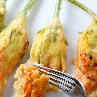 Crispy Herbed Goat Cheese Stuffed Zucchini Blossoms