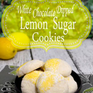 White Chocolate Dipped Lemon Sugar Cookie