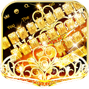 Gold Diamond Crown Keyboard Theme