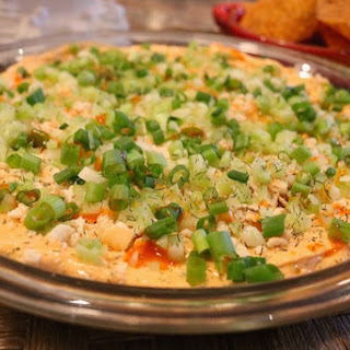 Spicy Buffalo Chicken Dip with Dill