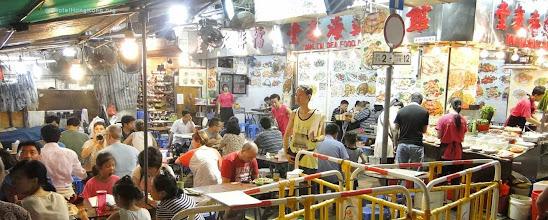 Photo: Street food cafe Kowloon Hong Kong