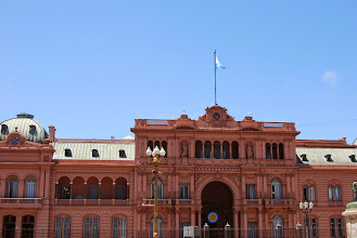 Photo: The lower balcony on the left is where Evita would do her speeches, or Madonna would sing :)