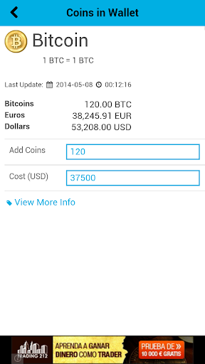 Bitcoin Converter Free Alarm Screenshot 3