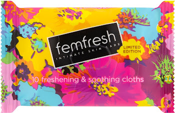 Femfresh Limited Edition Intimate Skin Care - 10 Freshening & Soothing Cloths