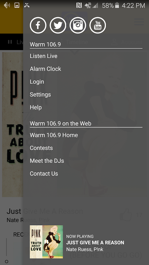 Warm 106.9- screenshot
