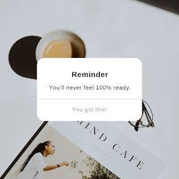 You'll Never Feel Ready - Instagram Post item