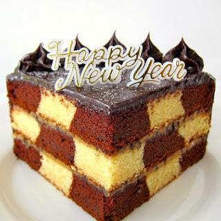 Checkerboard Chocolate Cake.