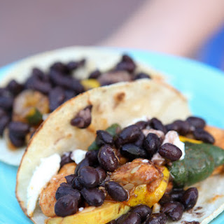 Chicken and Summer Squash Fajitas with Black Beans