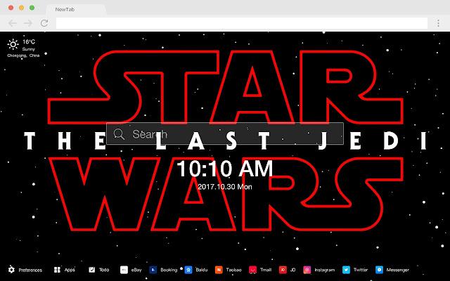 Star Wars: The Last Jedi  HD New Tab Theme