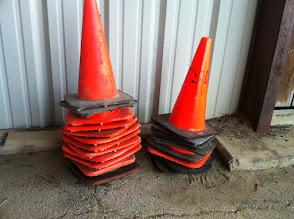 Photo: Large traffic cones