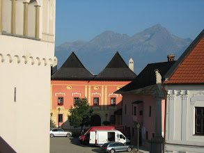 Photo: Häuser in Poprad, bei der Kirche