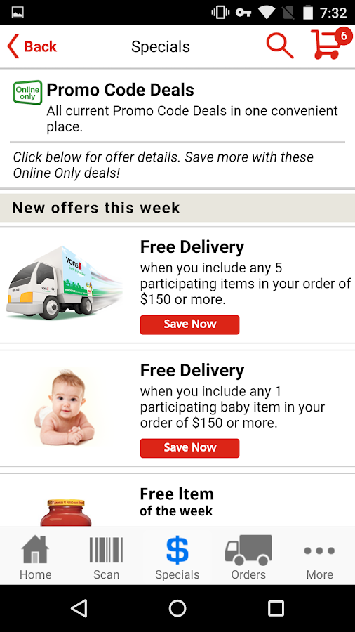 Vons Delivery Policy. On the company's website, type in your zip code to determine what delivery and pickup options exist. Based on your area, you might receive free delivery on your first order with a set minimum purchase. Receive rush delivery in as little as two hours if this premium service is available in your location. Vons Refund Policy.
