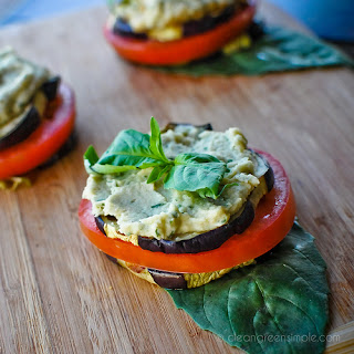 Grilled Eggplant Stacks.