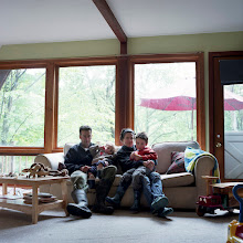 Photo: title: Chicky Stoltz, Felix, Amy & Reuben Kretz, Warren, Vermont date: 2010 relationship: friends, art, met through Darien Brahms years known: 15-20