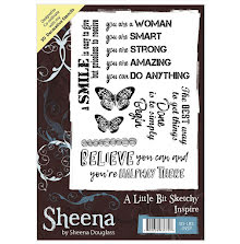 Sheena Douglass A Little Bit Sketchy A6 Stamp - Inspire UTGÅENDE