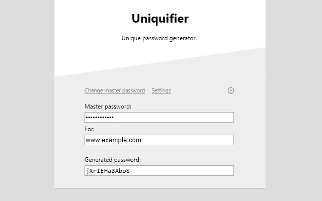 Password Uniquifier