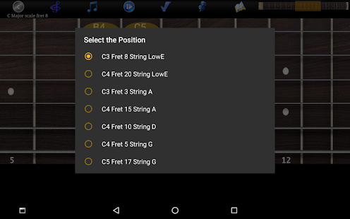 Guitar Scales & Chords Pro Screenshot