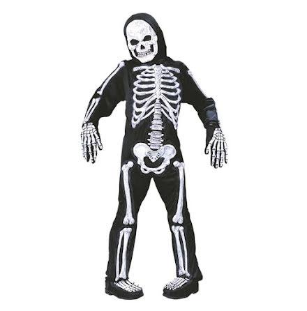 Barndräkt, skelett 3D 122/128 cl