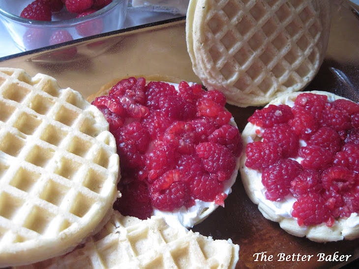 Baked Waffles with Raspberry Cream Cheese Recipe