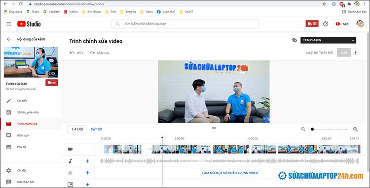 Cắt ghép video trực tuyến ngay trên Youtube