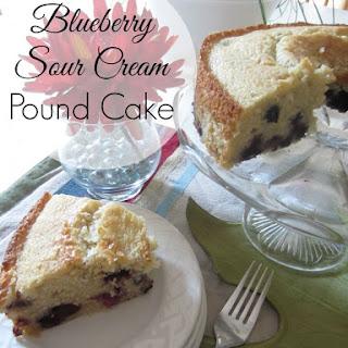 Blueberry Sour Cream Pound Cake.
