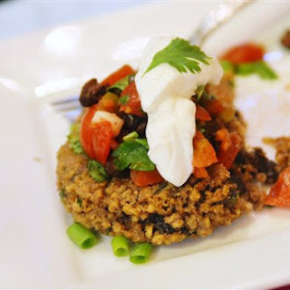 Black Bean Porridge Patties with Black Bean Pico de Gallo