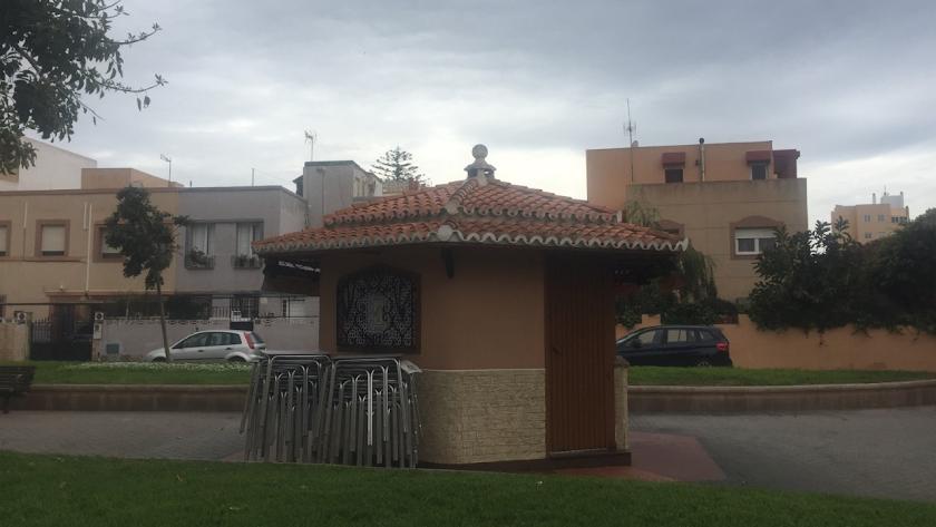 El Lengüetas, el popular quiosco cerrado a cal y canto debido a la crisis del COVID-19.