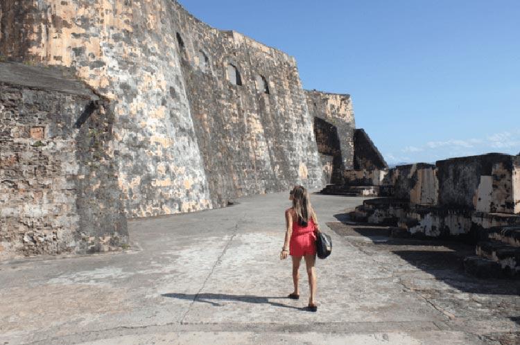 Walking the stone passageways of El Morro.