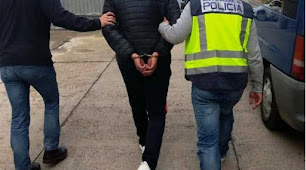 Uno de los detenidos por la Policía Nacional.