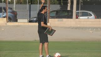 Fran Fernández, en un entrenamiento.