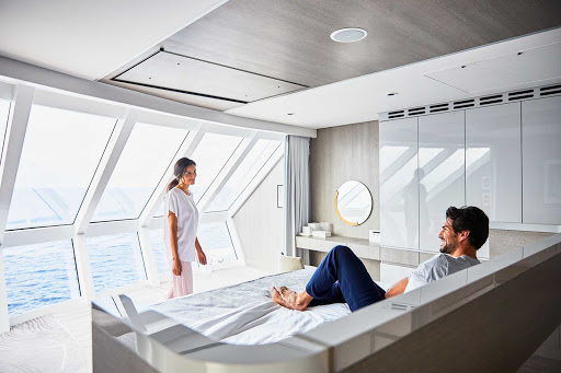 With more than 2,500 square feet of indoor and outdoor space, Iconic Suites are the largest and most luxurious in the Celebrity fleet.