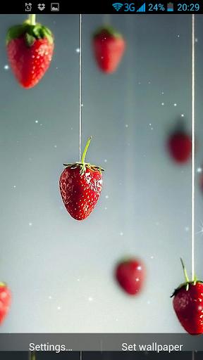 草莓動態壁紙
