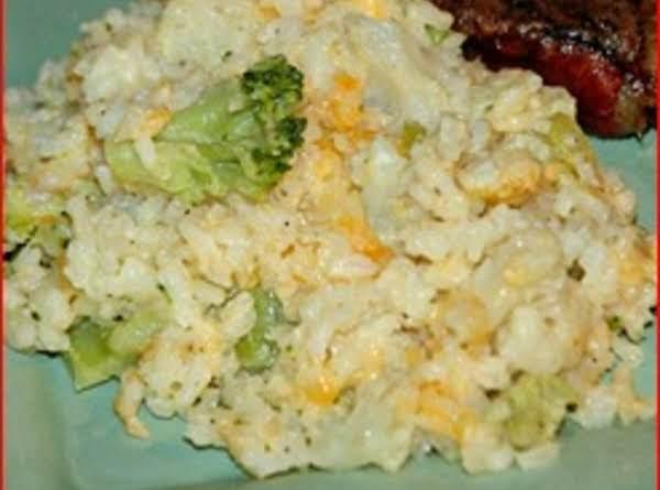 Broccoli Cauliflower Cheesy Rice Casserole