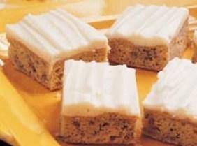 Frosted Banana Bars - Delicious Recipe