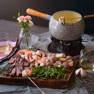 Surf and Turf Cheese Fondue.