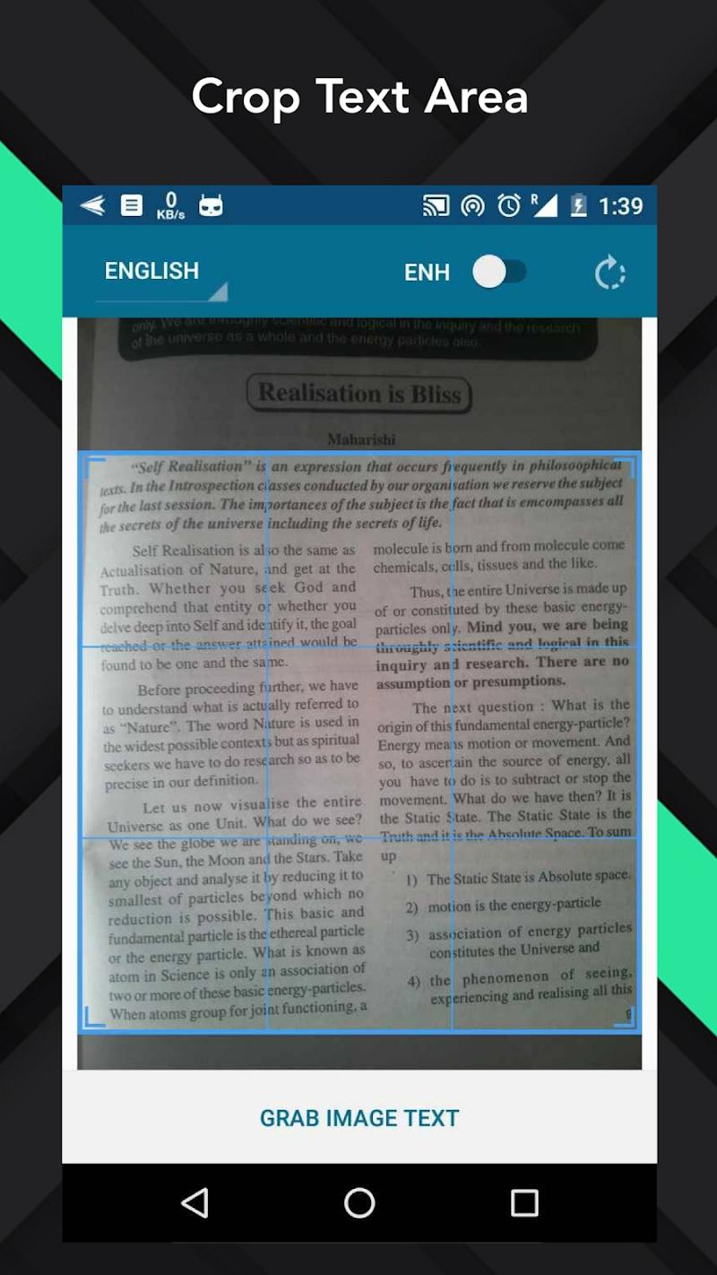 OCR Text Scanner  pro : Convert an image to text Screenshot 1