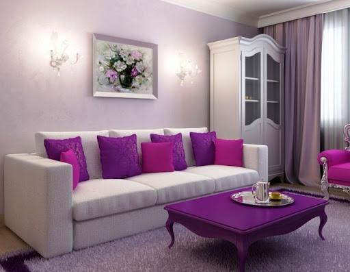 Фиолетовый цвет в интерьере - triumph-m.ru