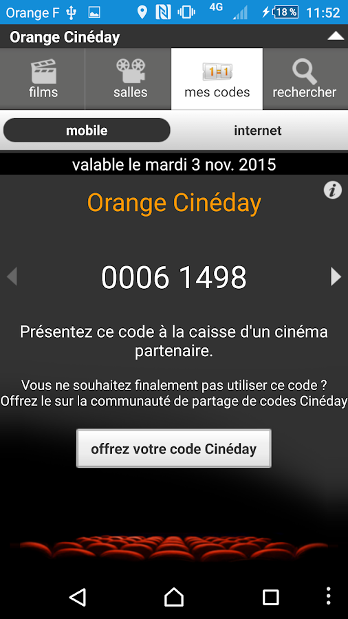 Orange Cineday- screenshot