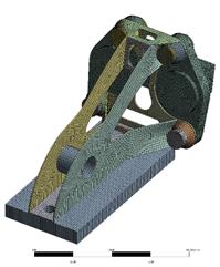 ANSYS | Конечноэлементная сетка упрощенной модели педального блока