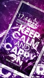 Keep Calm And Carry On Locker Theme - náhled