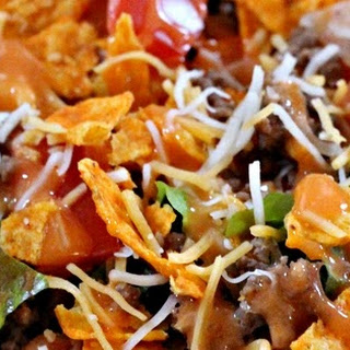 Taco Salad with Homemade French Dressing.